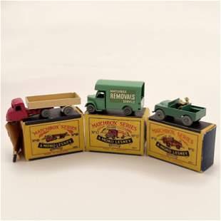 Moko Lesney Matchbox Cars No. 10 , 12 , 17