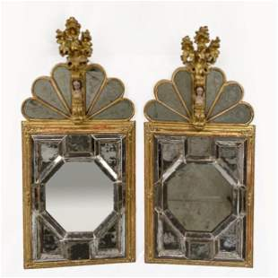 Pair Venetian Rococo Pier Mirrors
