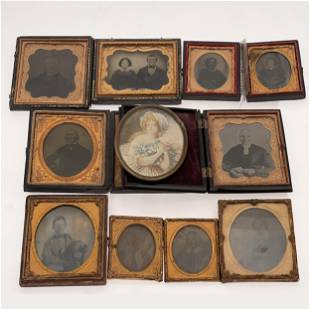 Collection of Cased Photographs and Portrait Miniature