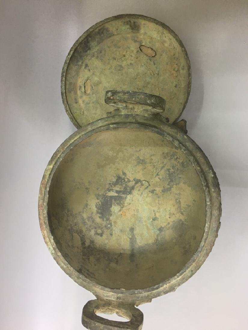 AN ARCHAIC BRONZE CENSER AND COVER - 3