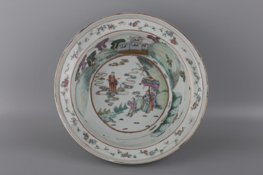 A FAMILLIE ROSE PLATE - 3