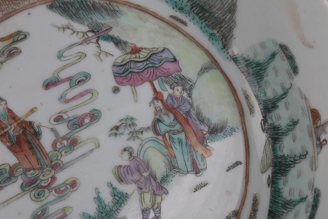 A FAMILLIE ROSE PLATE - 4