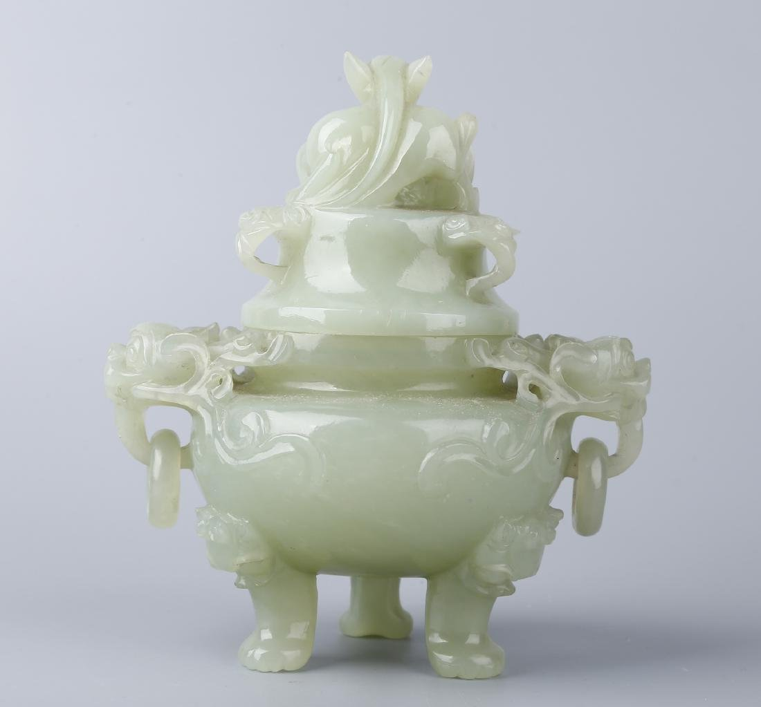A JADE CENSER AND COVER - 3