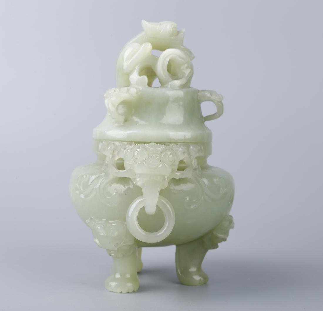 A JADE CENSER AND COVER - 4