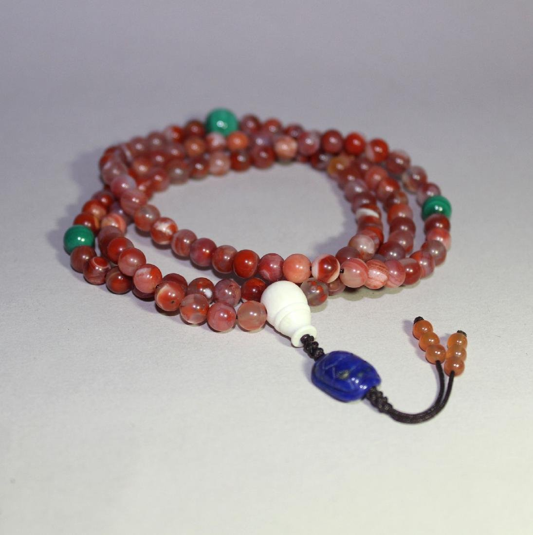 108 AGATE BEADS NECKLANCE