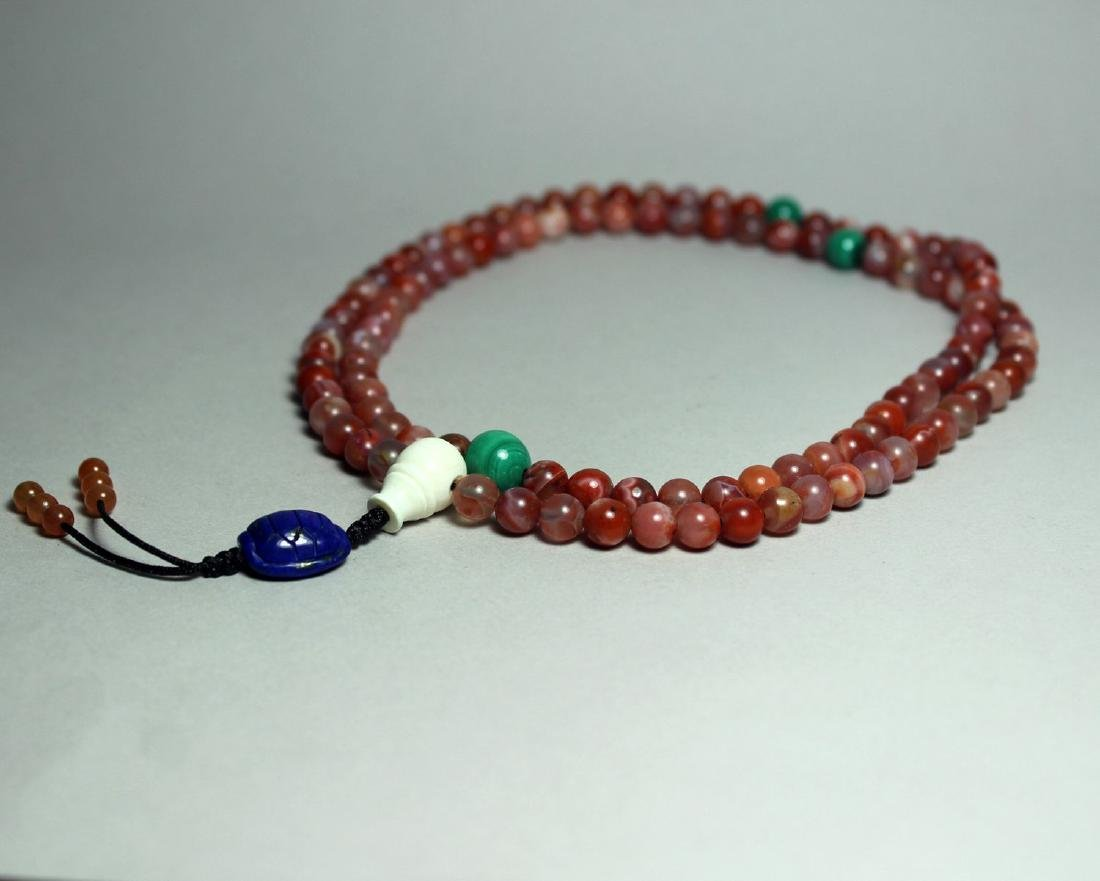 108 AGATE BEADS NECKLANCE - 2