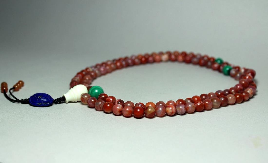 108 AGATE BEADS NECKLANCE - 3