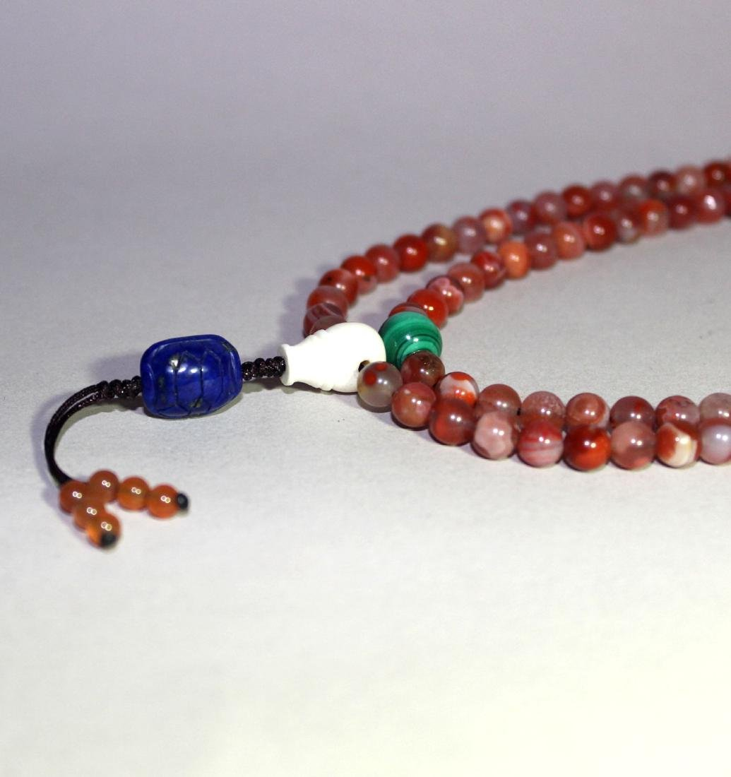 108 AGATE BEADS NECKLANCE - 5