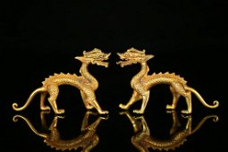 PAIR OF CHINESE DRAGON ORNAMENT