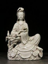 BOJIYUREN MARK, CHINESE WHITE GLAZED BUDDHA