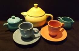VINTAGE CHILDS FIESTA TEA SET