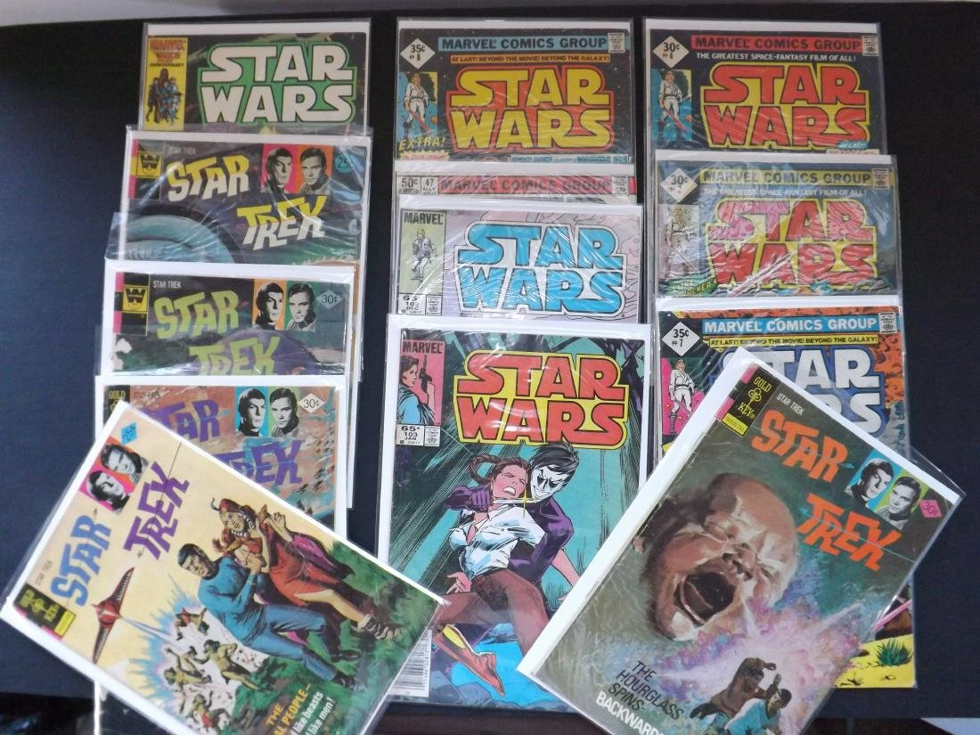 13 STAR WARS/STAR TREK COMICS