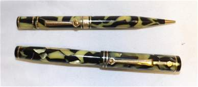 WAHL EVERSHARP FOUNTAIN PEN  PENCIL SET  14K FLEXIBLE
