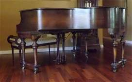 BRAMBACH SHERMAN CLAY BABY GRAND PIANO & STOOL