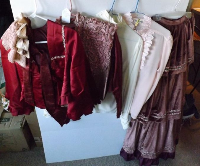 7 PIECES EARLY 1900S THEATRICAL COSTUME