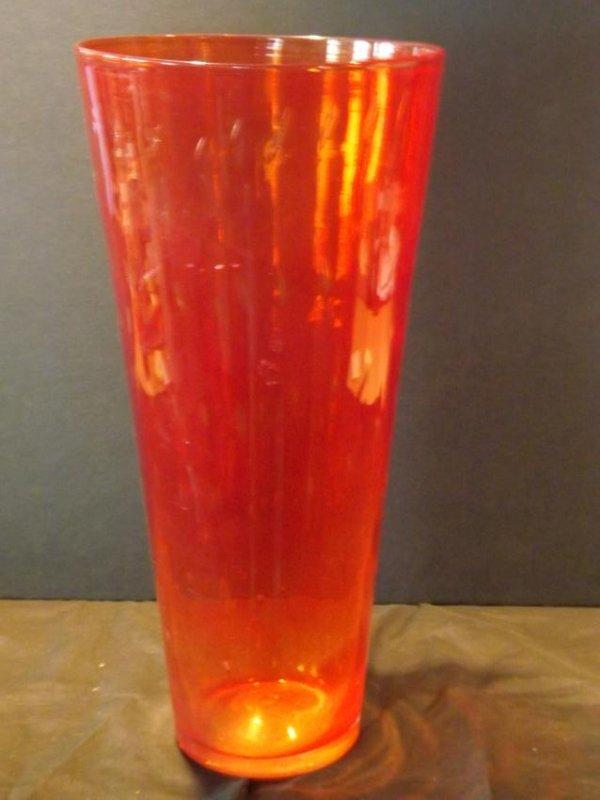 HANDBLOWN FLUTED GLASS VASE