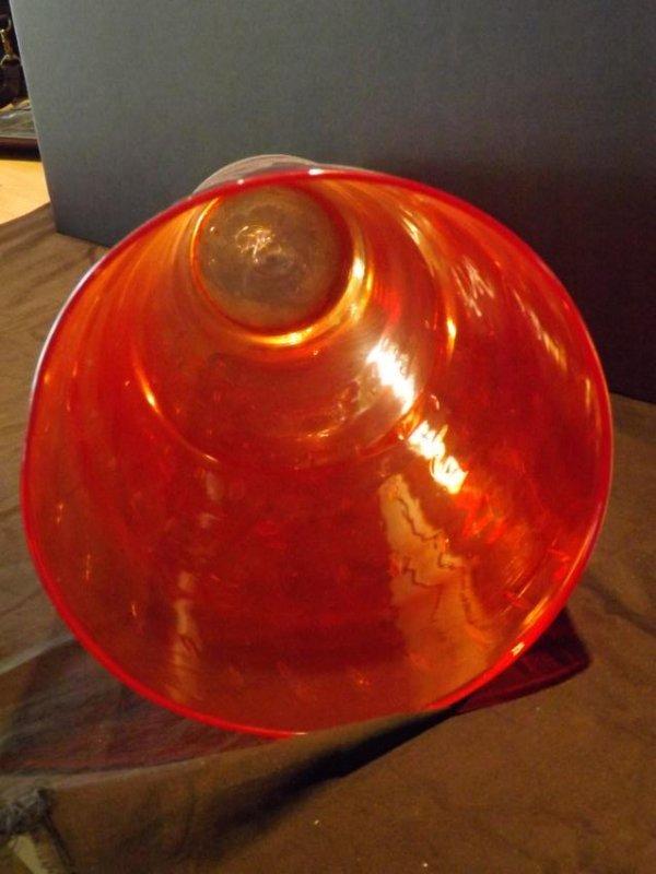 HANDBLOWN FLUTED GLASS VASE - 2