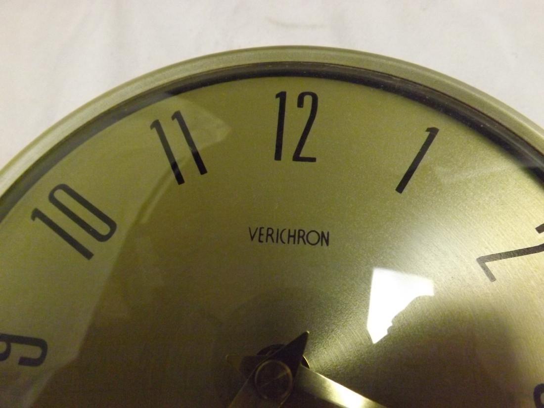 VINTAGE VERICHRON QUARTZ STAR BURST WALL CLOCK - 3