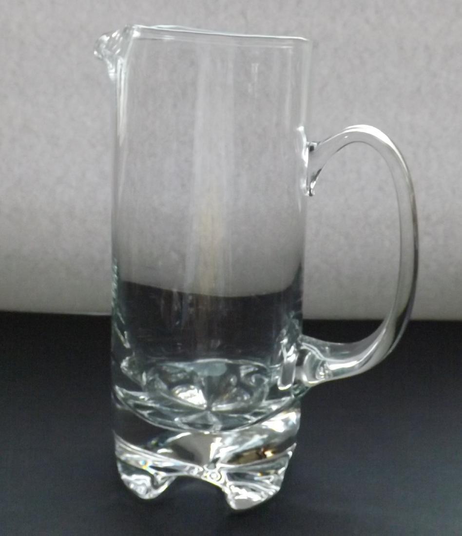 ART DECO STYLE GLASS PITCHER