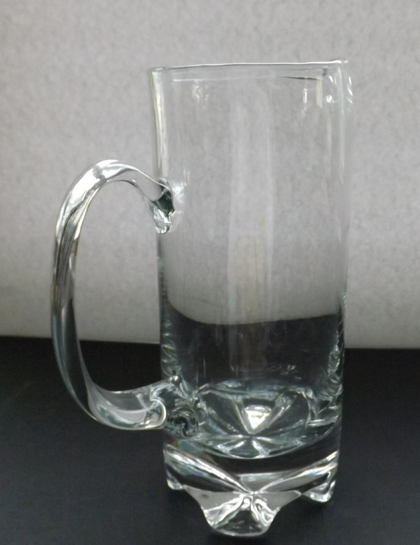 ART DECO STYLE GLASS PITCHER - 2
