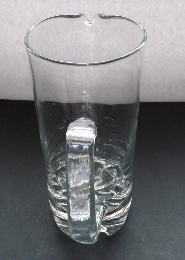 ART DECO STYLE GLASS PITCHER - 3