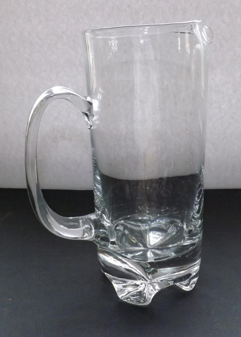 ART DECO STYLE GLASS PITCHER - 4