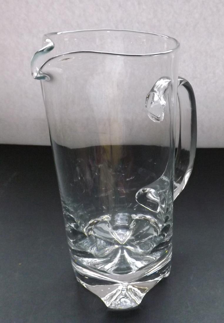 ART DECO STYLE GLASS PITCHER - 5