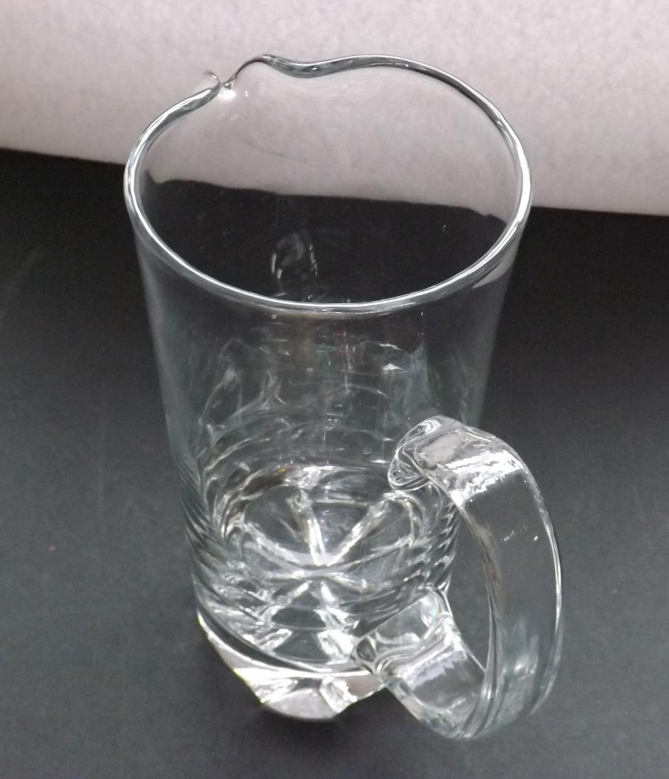 ART DECO STYLE GLASS PITCHER - 7
