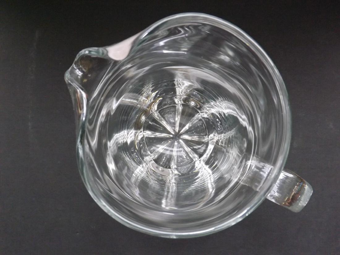 ART DECO STYLE GLASS PITCHER - 8