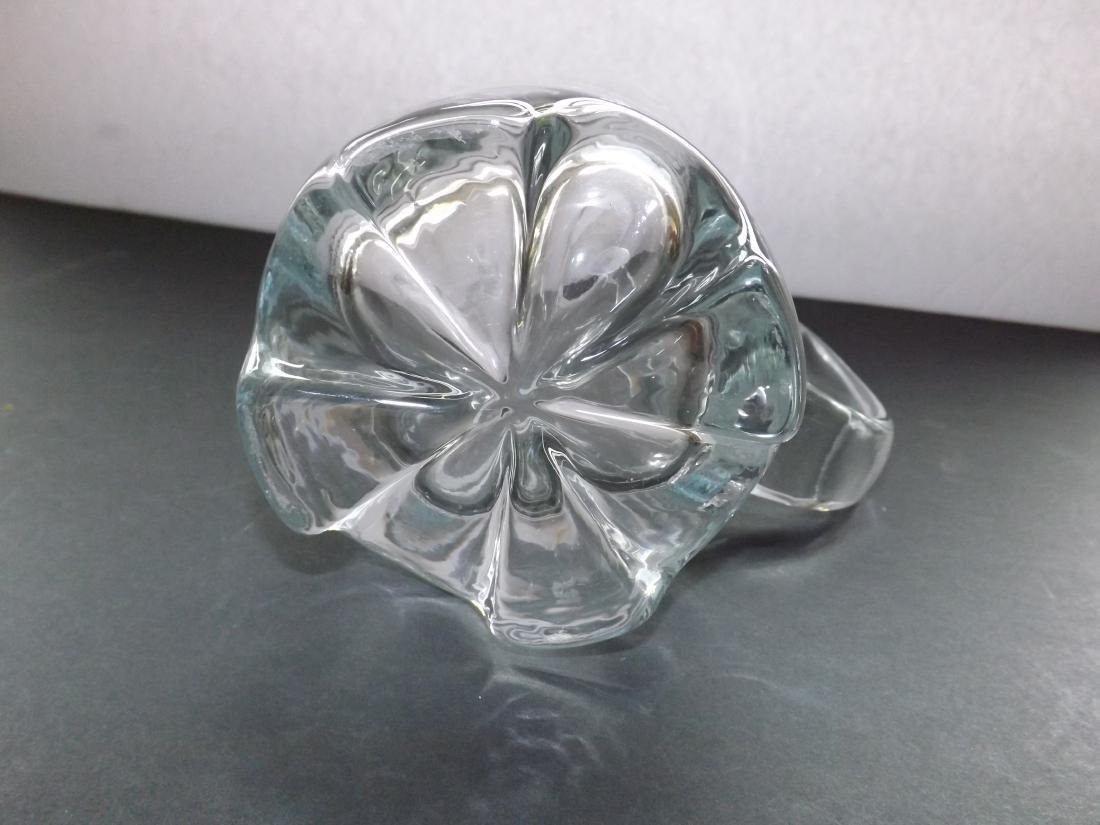 ART DECO STYLE GLASS PITCHER - 9