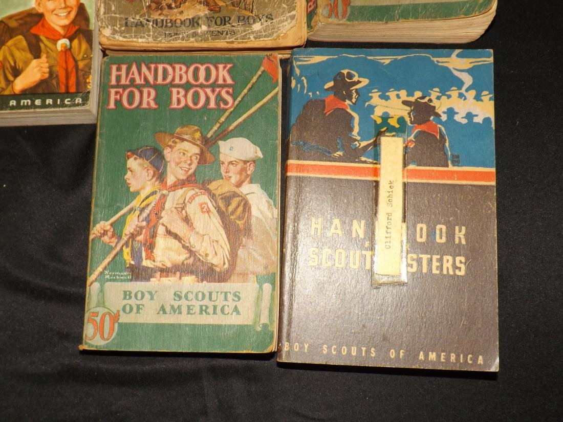 12 VINTAGE BOY SCOUT HANDBOOKS - 2