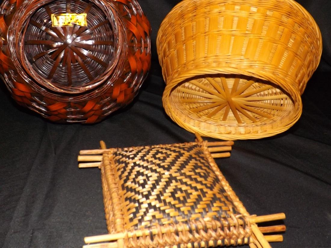 HAND WOVEN ASIAN & NATIVE AMERICAN STYLE BASKETS & - 6