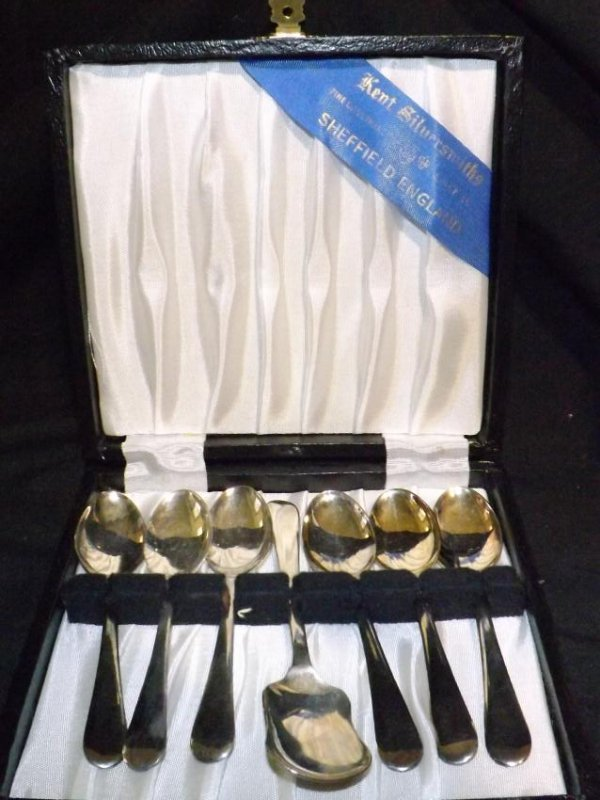 SILVER PLATED SERVING UTENSILS - 2