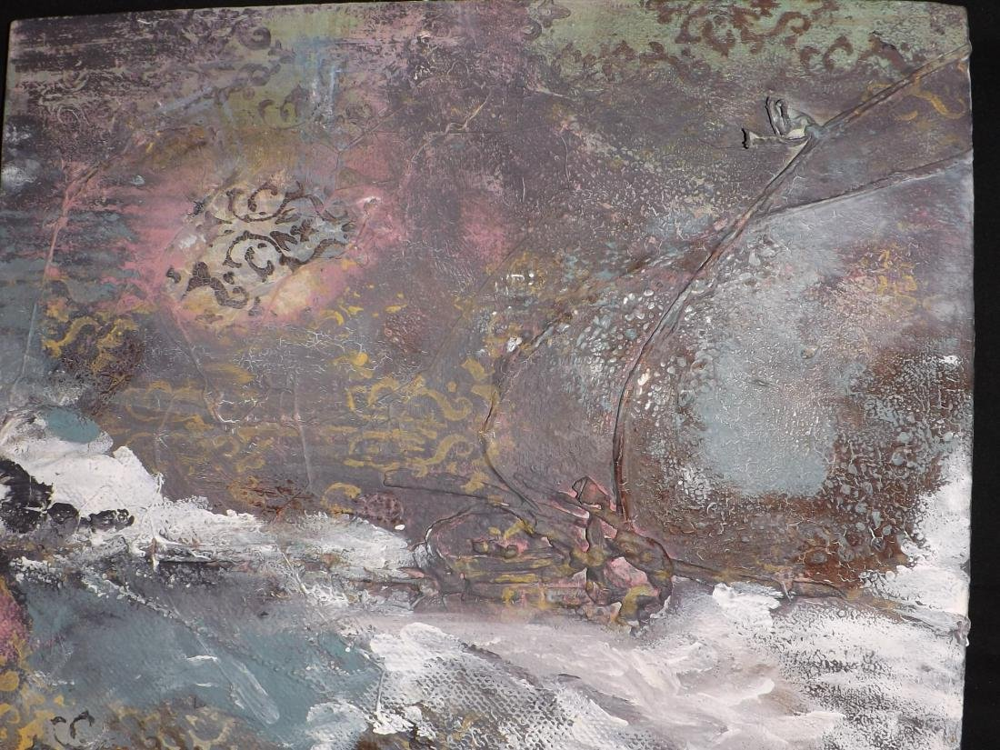 ORIGINAL MIXED MEDIA OBSTRACT LANDSCAPE - 2