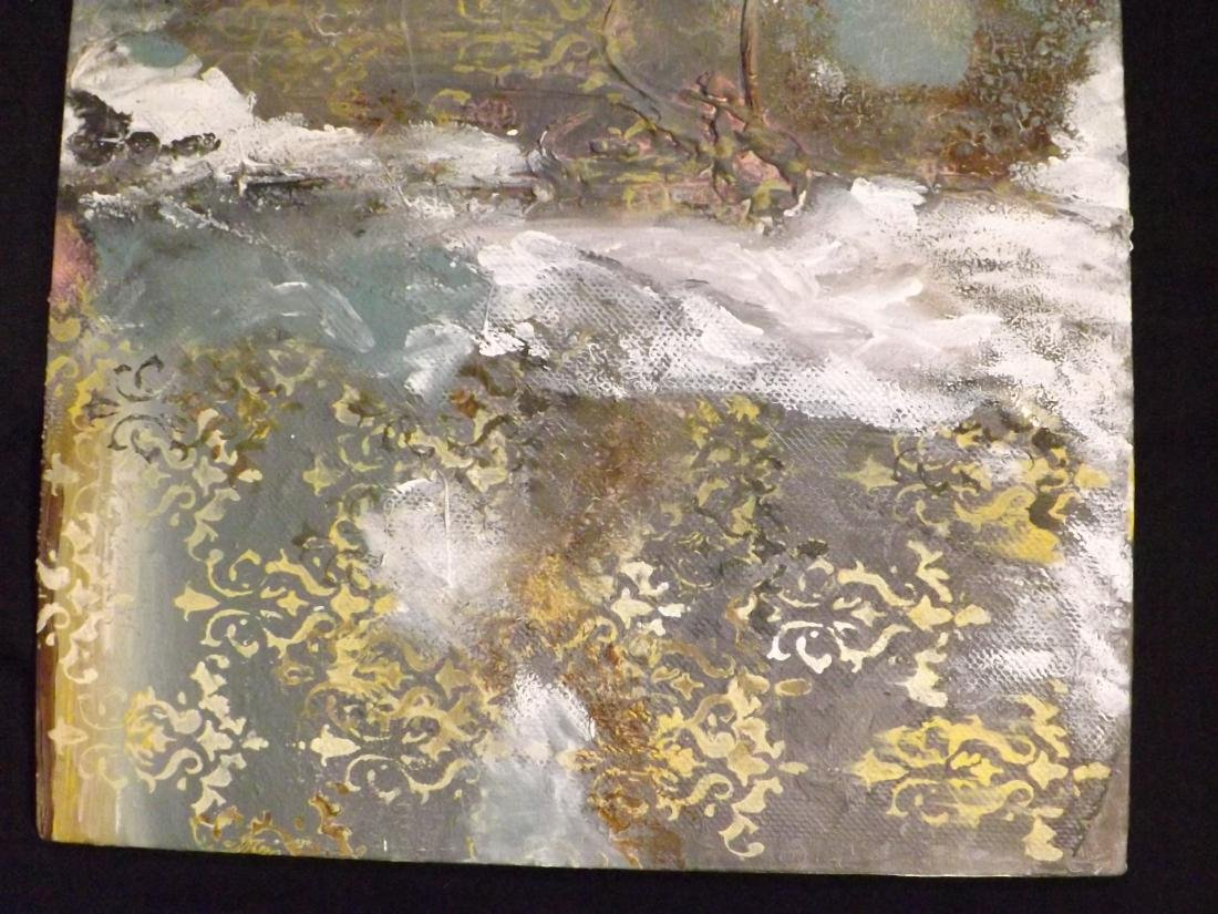 ORIGINAL MIXED MEDIA OBSTRACT LANDSCAPE - 4