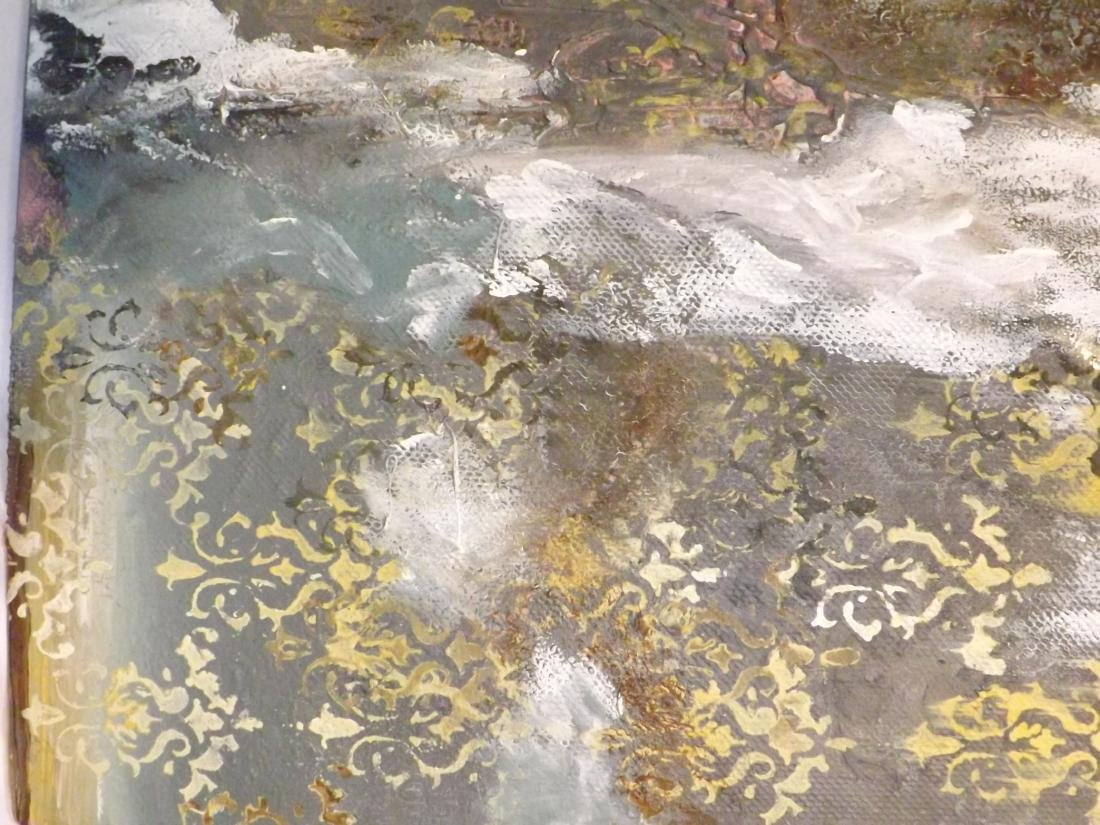 ORIGINAL MIXED MEDIA OBSTRACT LANDSCAPE - 5