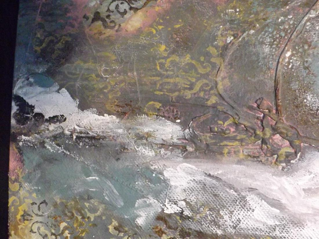 ORIGINAL MIXED MEDIA OBSTRACT LANDSCAPE - 7