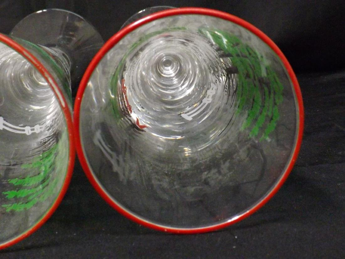 VINTAGE LIBBEY BEER GLASSES - 10