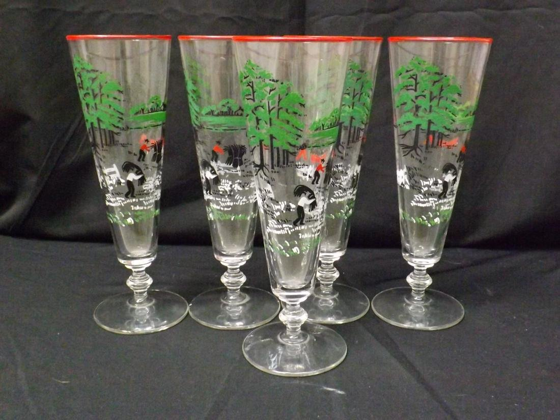 VINTAGE LIBBEY BEER GLASSES