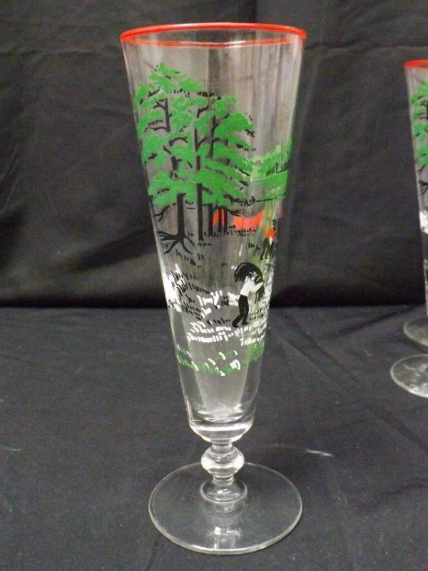 VINTAGE LIBBEY BEER GLASSES - 2