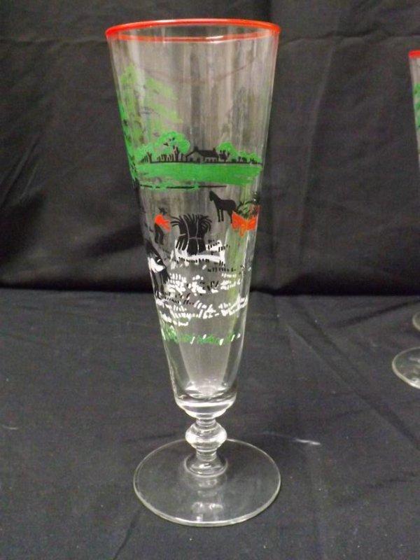 VINTAGE LIBBEY BEER GLASSES - 3