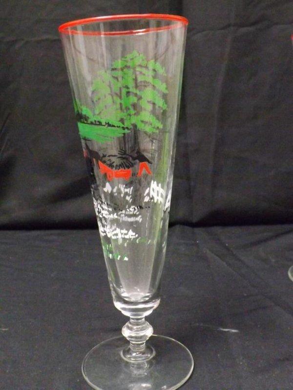 VINTAGE LIBBEY BEER GLASSES - 4