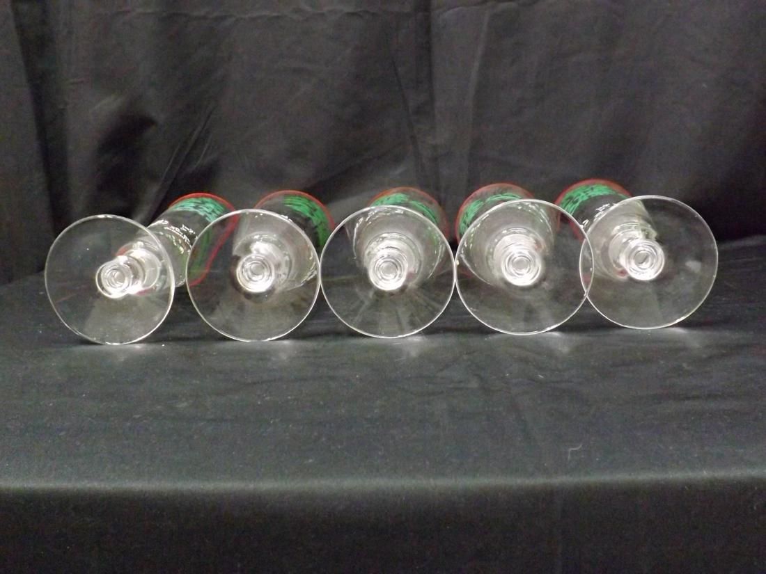 VINTAGE LIBBEY BEER GLASSES - 7