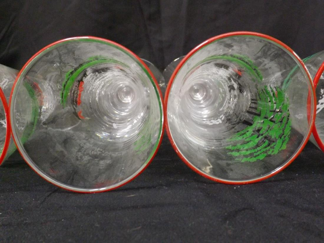 VINTAGE LIBBEY BEER GLASSES - 9