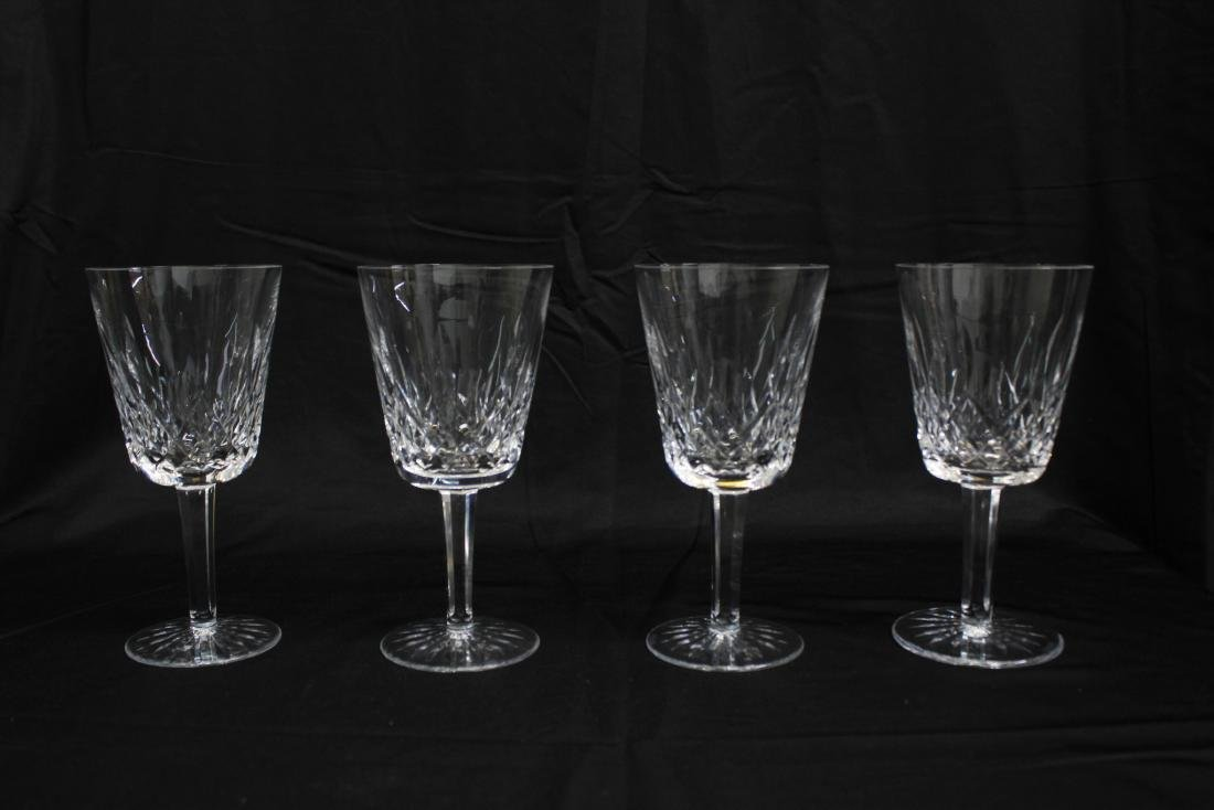 4 WATERFORD LISMORE WATER GOBLETS