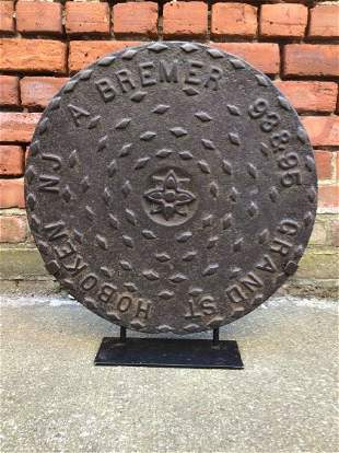 19th Century Manhole Cover Hoboken, NJ by A. Bremer