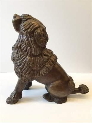 Lilian Swann Saarinen Bronze Poodle Dog Sculpture 1930s