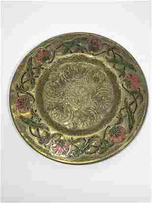 Louis C. Tiffany Furnaces Favrile Bronze Plate