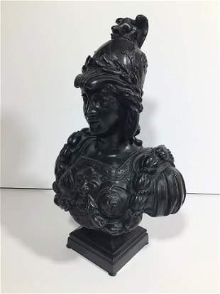 Bronze Woman Warrior in Armor Style of Leon Pilet