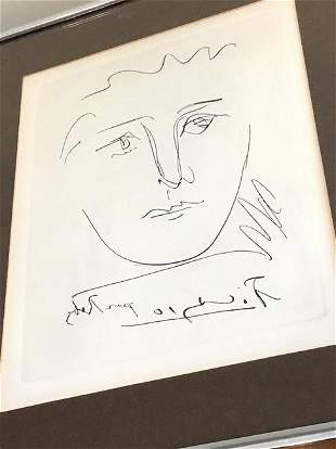Pablo Picasso Etching Poor Roby ~ Collectors Guild NY~